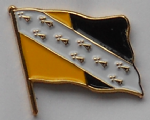 Norfolk County Flag Enamel Pin Badge